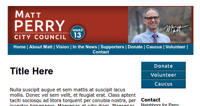 Vote Matt Perry