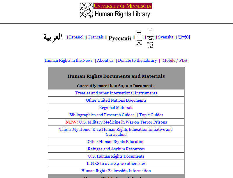 Human Rights Library
